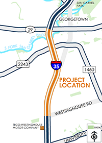 SH 29 to Westinghouse Road map